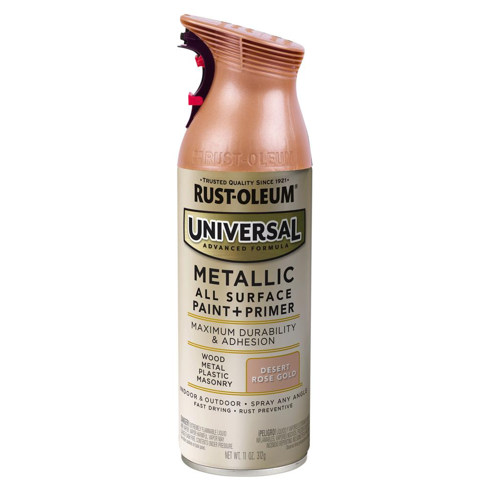 Rust-Oleum Universal 11 oz. All Surface Metallic Desert Rose Gold Spray Paint and Primer in One