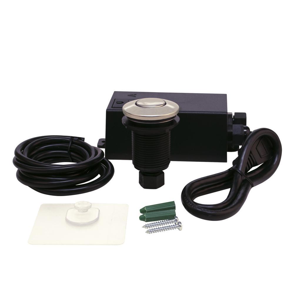 Garbage Disposal Switch Kit in Brushed Nickel