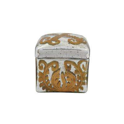 Aby 5 in. x 5 in. Mercury Glass Decorative Box
