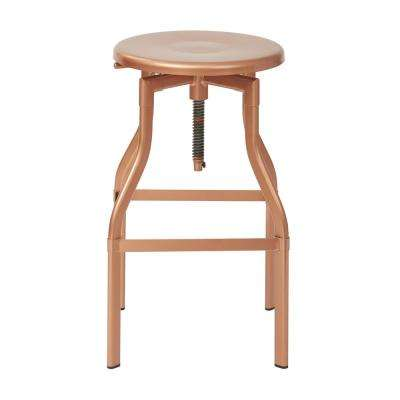 "Eastvale 30"" Metal Barstool In Copper"
