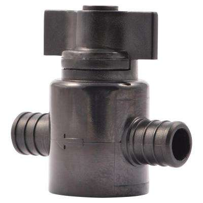 3/4 in. Plastic PEX Barb x Barb Ball Valve (2-Pack)