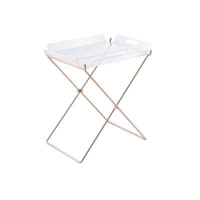 Amelia Clear Acrylic And Copper Tray Table