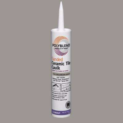 Polyblend #165 Delorean Gray 10.5 oz. Sanded Ceramic Tile Caulk