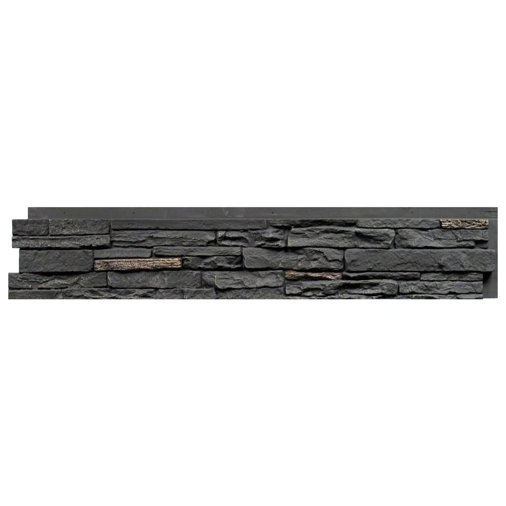 NextStone Slatestone Midnight Ash 8.25 in. x 43 in. Faux ...