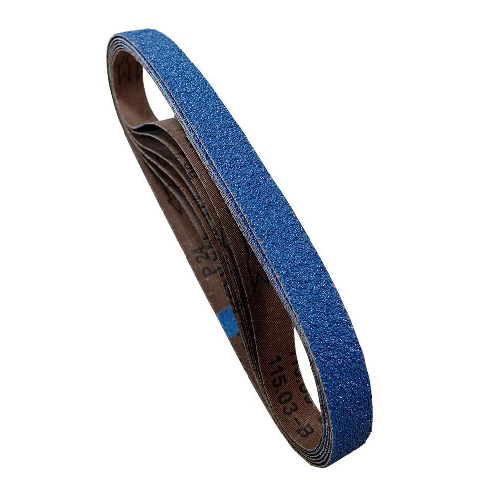 2 in. x 42 in. 120-Grit Metal Grinding Zirconia Sanding Belt (6-Pack)