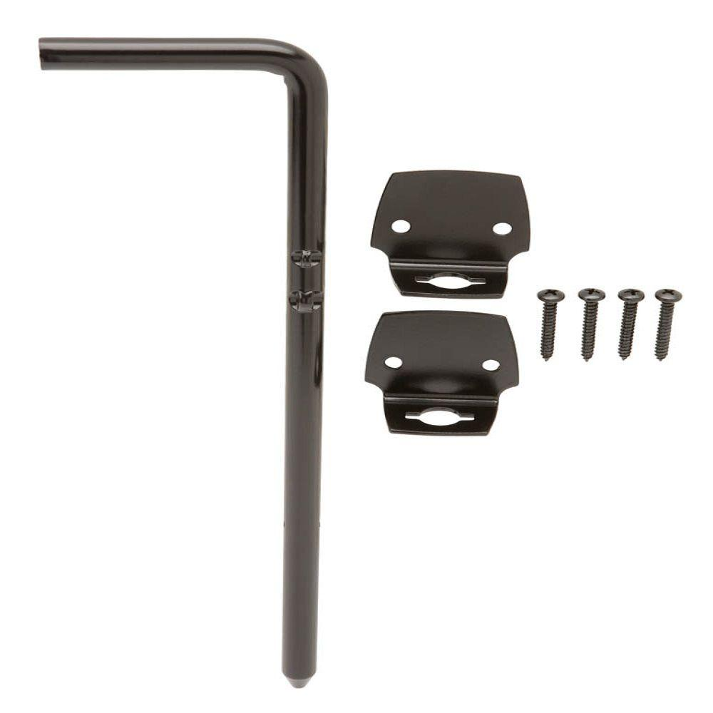 Everbilt 12 in. Black Gate Cane Bolt