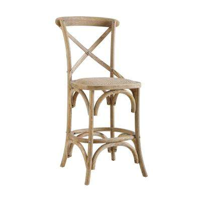 Posy 30 in. Neutral Washed Wooden Bar Stool