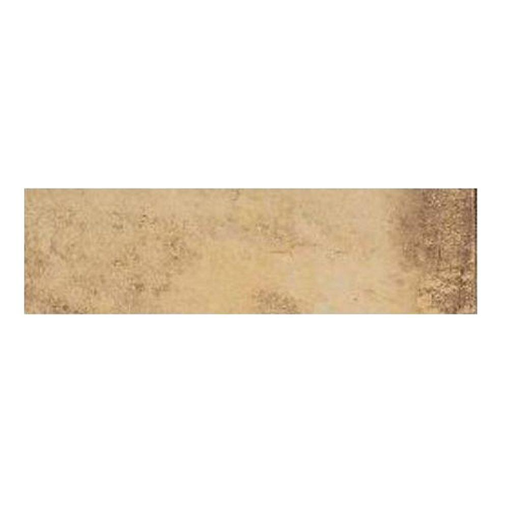 Daltile Aspen Lodge Golden Ridge 3 in. x 12 in. Porcelain Bullnose Floor and Wall Tile-DISCONTINUED