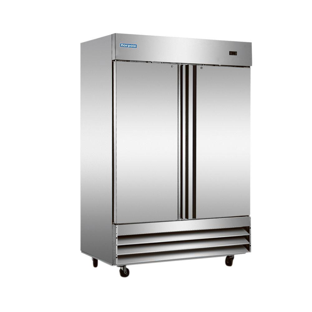 Norpole 48 Cu Ft Commercial Refrigerator In Stainless Steel Np2r The Home Depot
