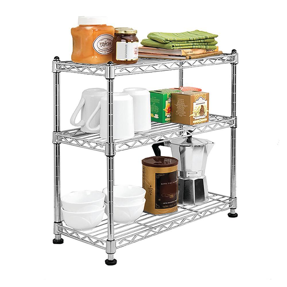 7.5 in. W x 17.5 in. D x 18.5 in. H, 3-Tier Mini Cabinet Organizer