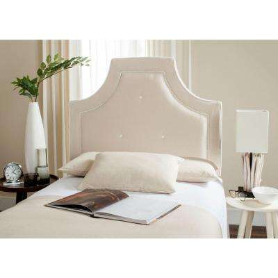 Tallulah Beige and White Twin Headboard