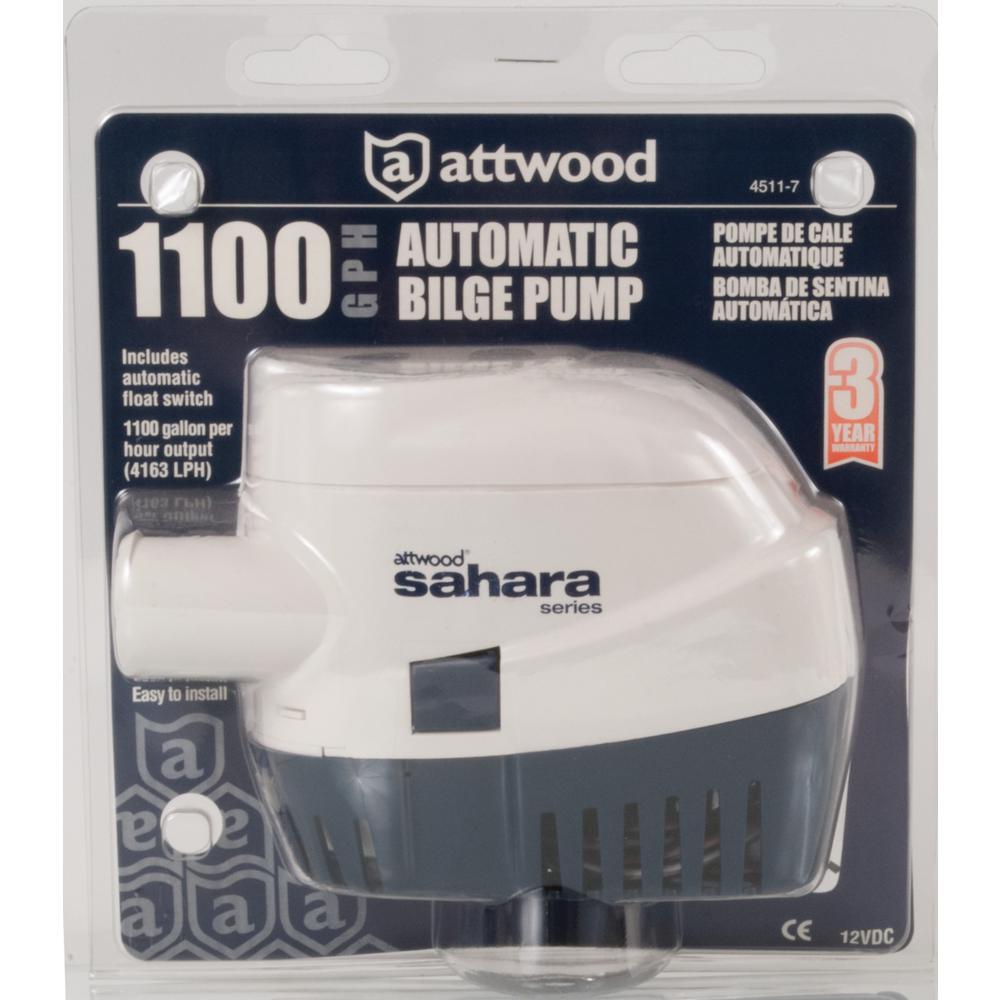 Attwood Sahara 1100 Automatic Bilge Pump-4511-7 - The Home Depot