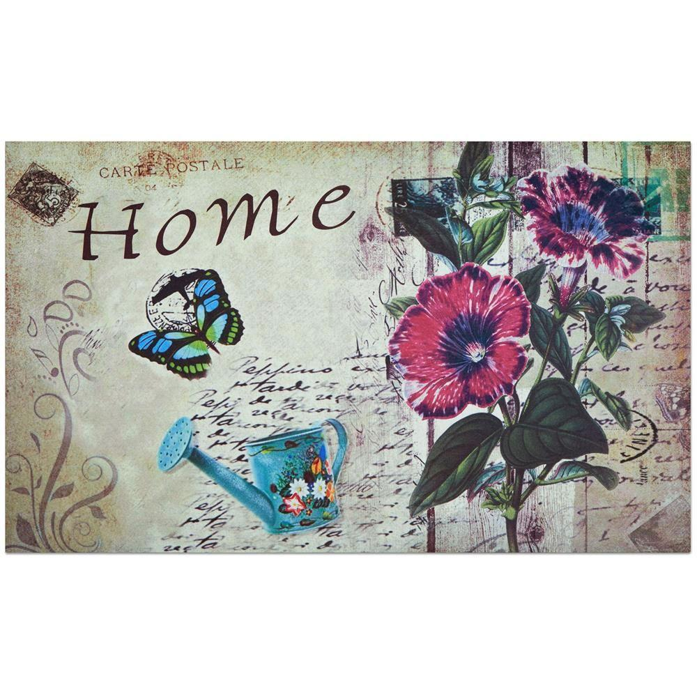 Achim Home Welcome 18 in. x 30 in. Outdoor Rubber Entrance Mat