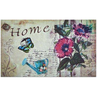 Home Welcome 18 in. x 30 in. Outdoor Rubber Entrance Mat