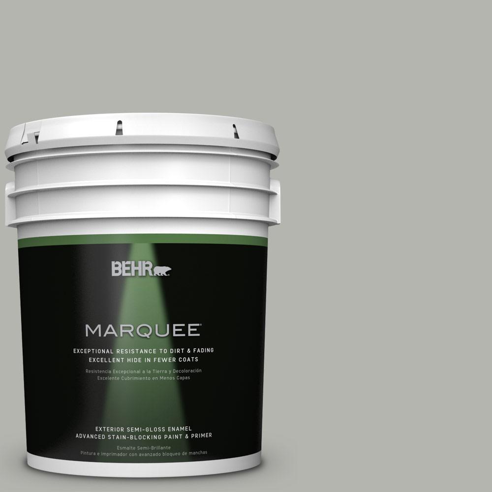 5 gal. #PPU25-08 Heirloom Silver Semi-Gloss Enamel Exterior Paint