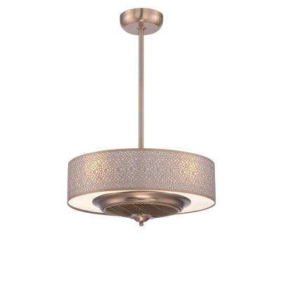 Cozette Collection 24 in. Indoor Satin Copper Ceiling Fan with Remote Control
