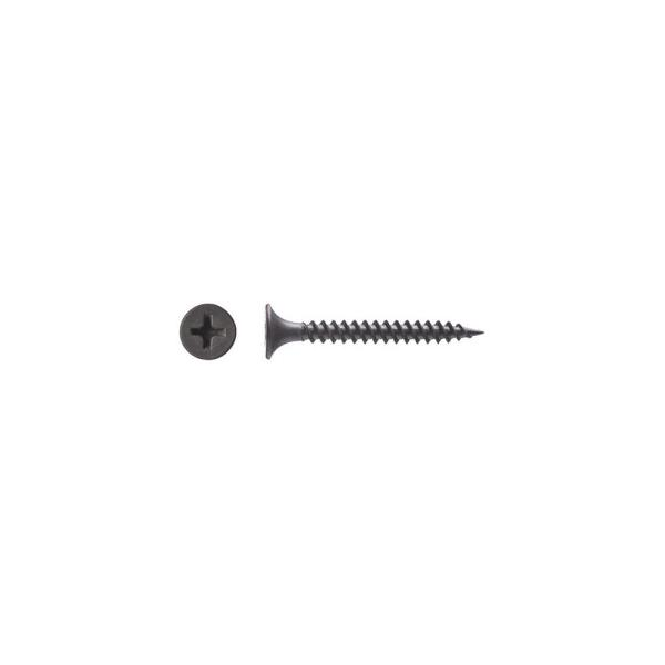 #6 x 1-5/8 in. Gray Phosphate Phillips Drive Bugle Head Coated Wood Screw (227-Pack)