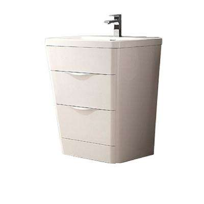 Milano 26 in. Vanity in White with Acrylic Vanity Top in White