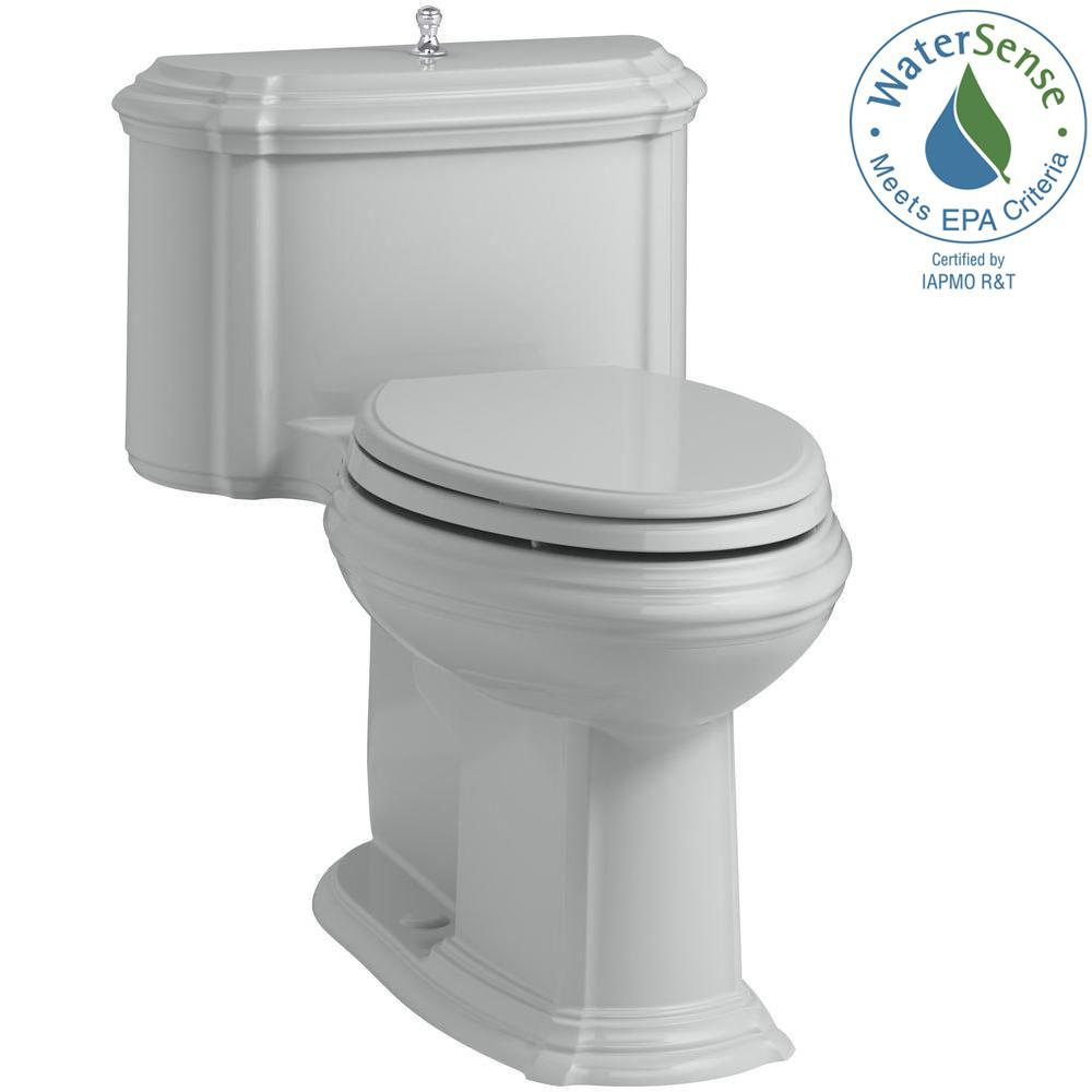 Portrait 1-piece 1.28 GPF Single Flush Elongated Toilet with AquaPiston Flush