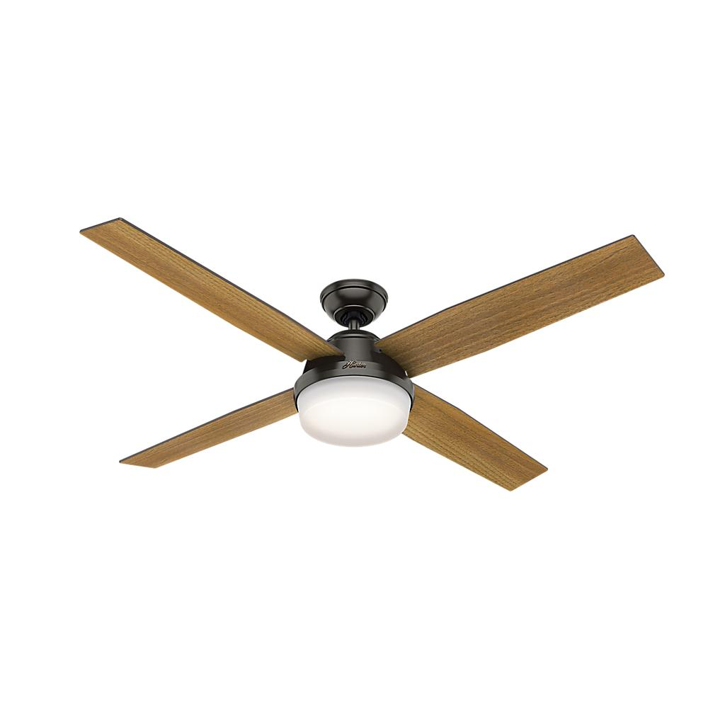 Hunter Dempsey 60 In Led Indoor Noble Bronze Ceiling Fan With Universal Handheld Remote Control