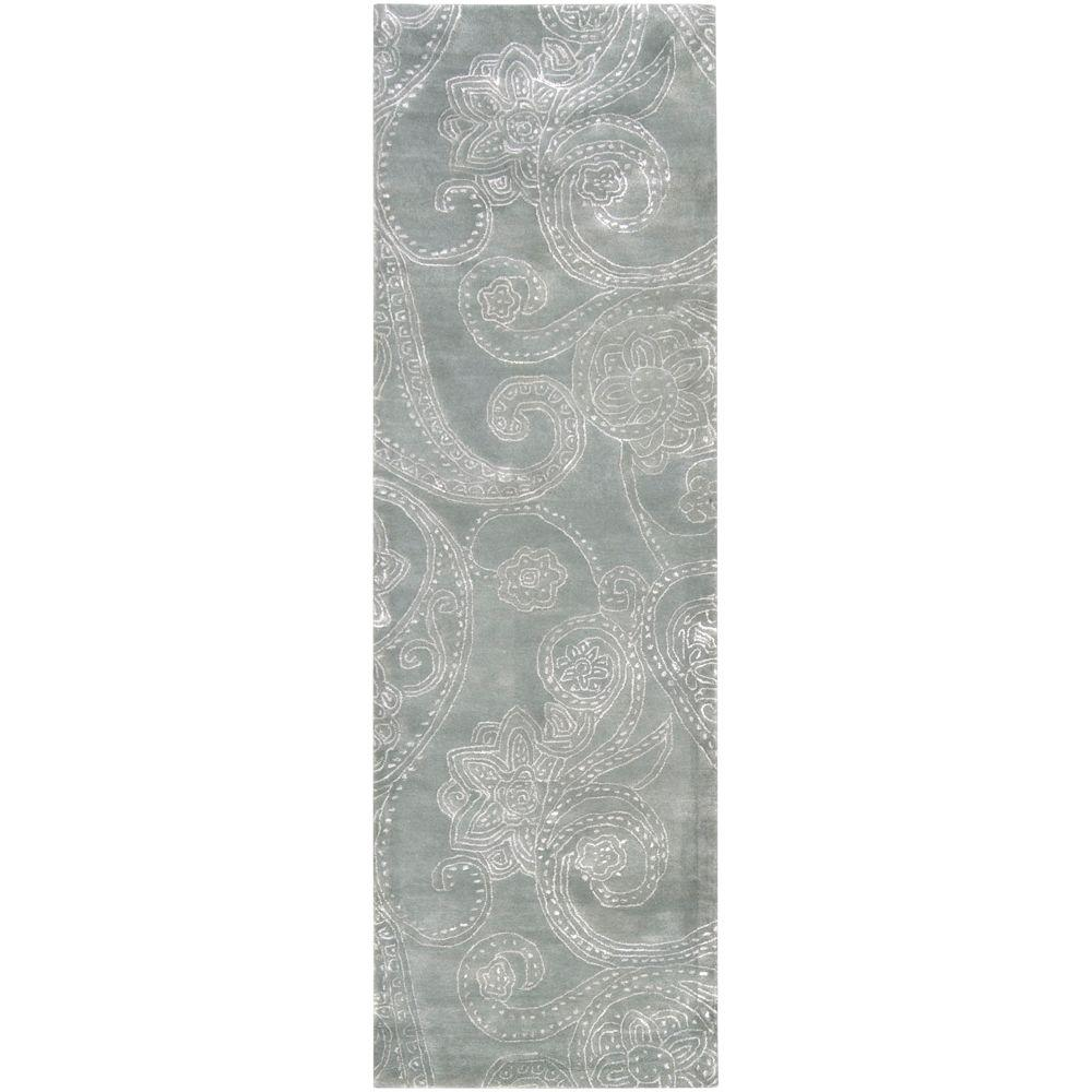 Surya Candice Olson Silver Sage 2 ft. 6 in. x 8 ft. Rug Runner