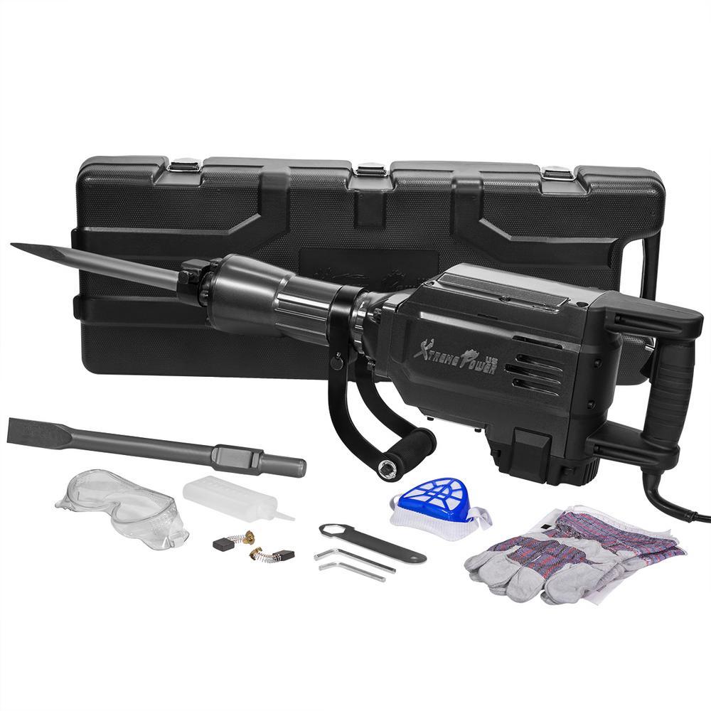 2800-Watt Heavy-Duty Electric Jackhammer Demolition Hammer Concrete Breaker Tool Kit