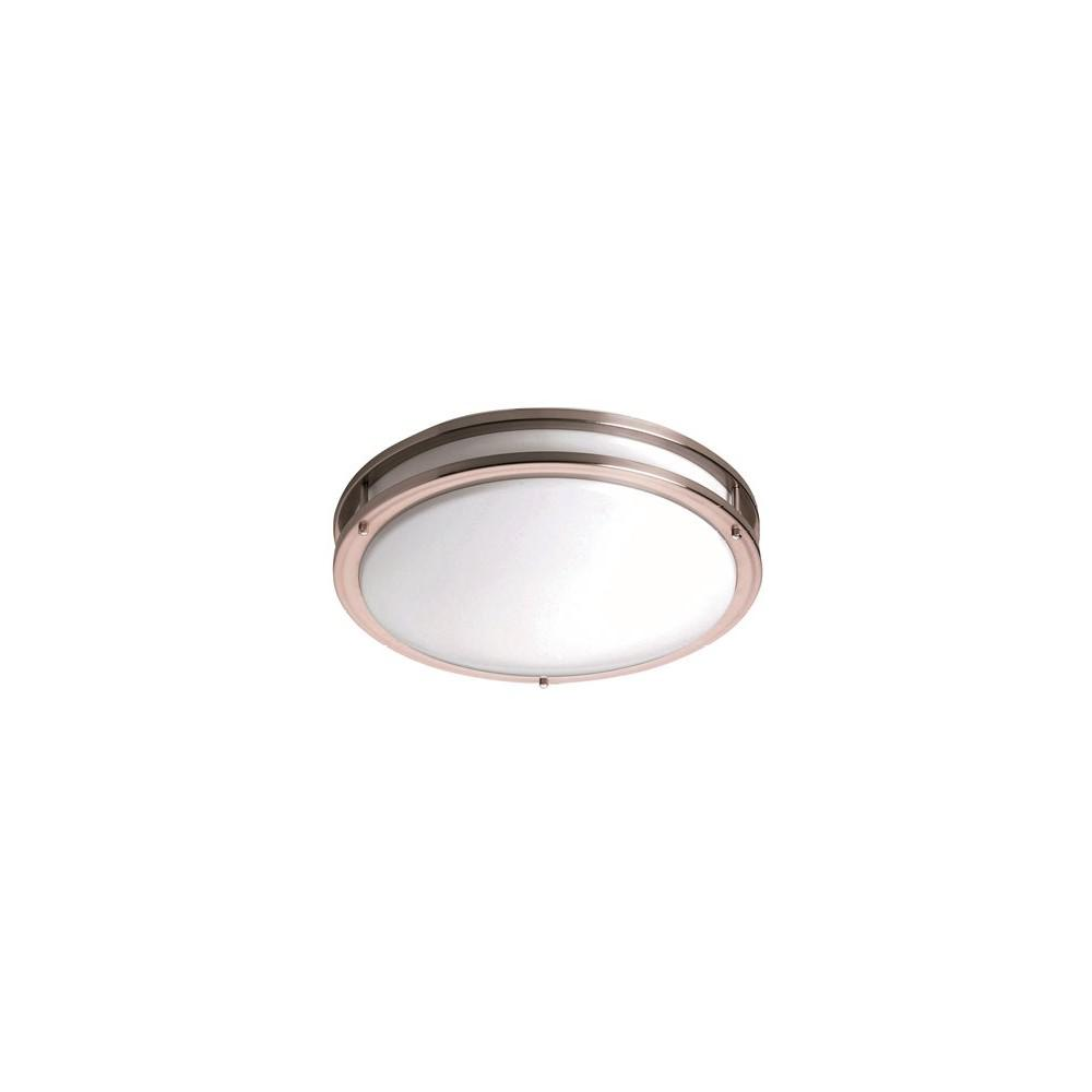 Monument Satin Nickel Flushmount was $91.1 now $45.0 (51.0% off)