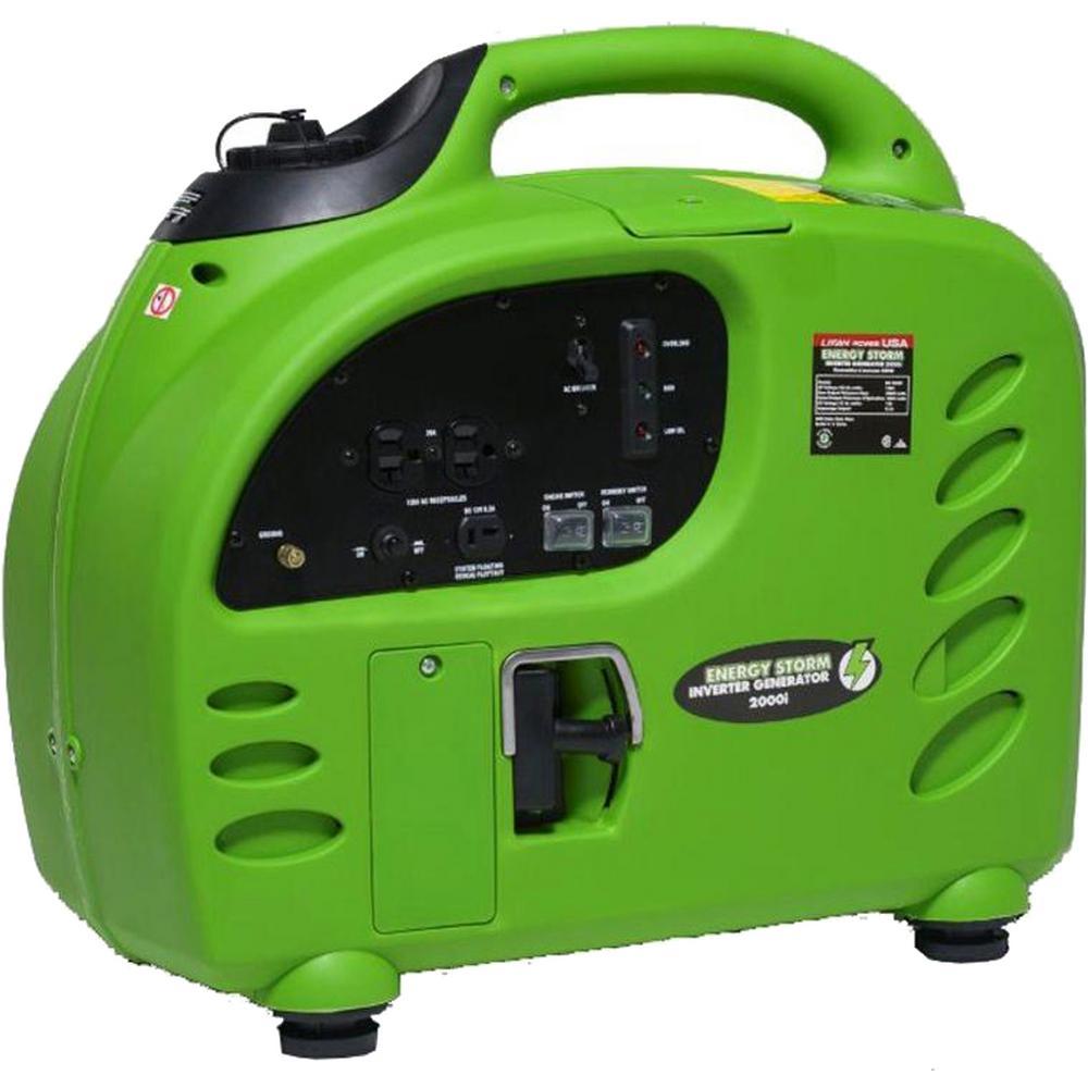 Energy Storm 2,000/1,800-Watt Gas Powered Portable Inverter Generator- 50 State Compliant