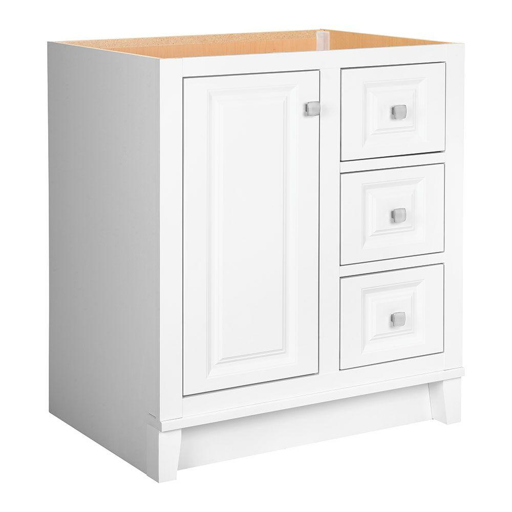 Glacier bay kinghurst 30 in w x 21 in d x 33 5 in h for Vanity top cabinet