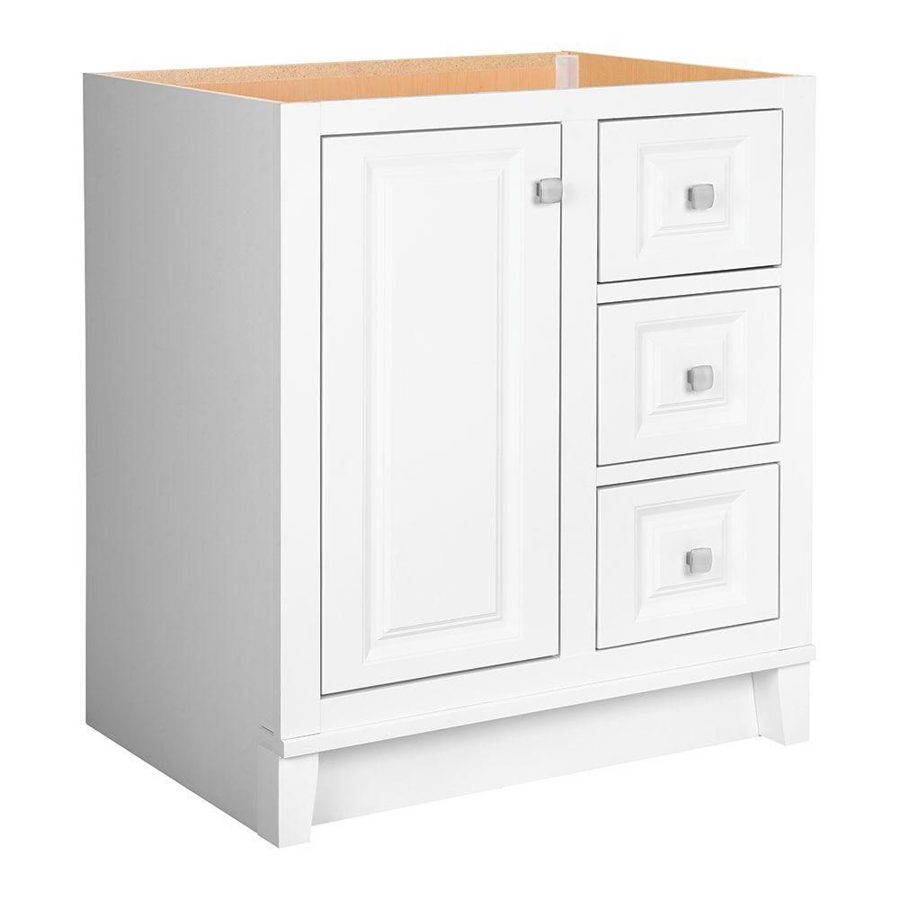 Kinghurst 30 in. W x 21 in. D x 33.5 in. H Bath Vanity Cabinet Only in White