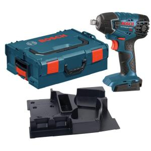 Bosch 18 Volt Cordless Electric 1/2 inch Square Drive Impact Wrench Kit with L-Boxx Hard Case (Tool-Only) by Bosch