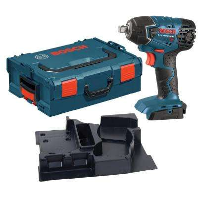 18 Volt Cordless Electric 1/2 in. Square Drive Impact Wrench Kit with L-Boxx Hard Case (Tool-Only)
