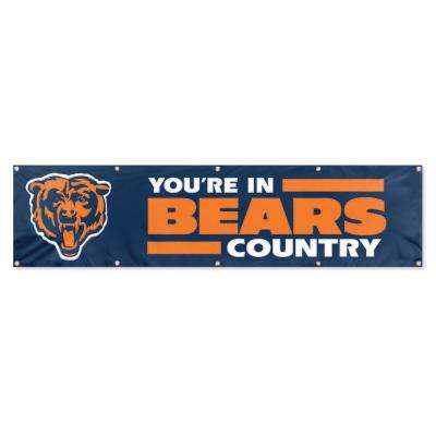 8 ft. x 2 ft. NFL License Bears Team Banner