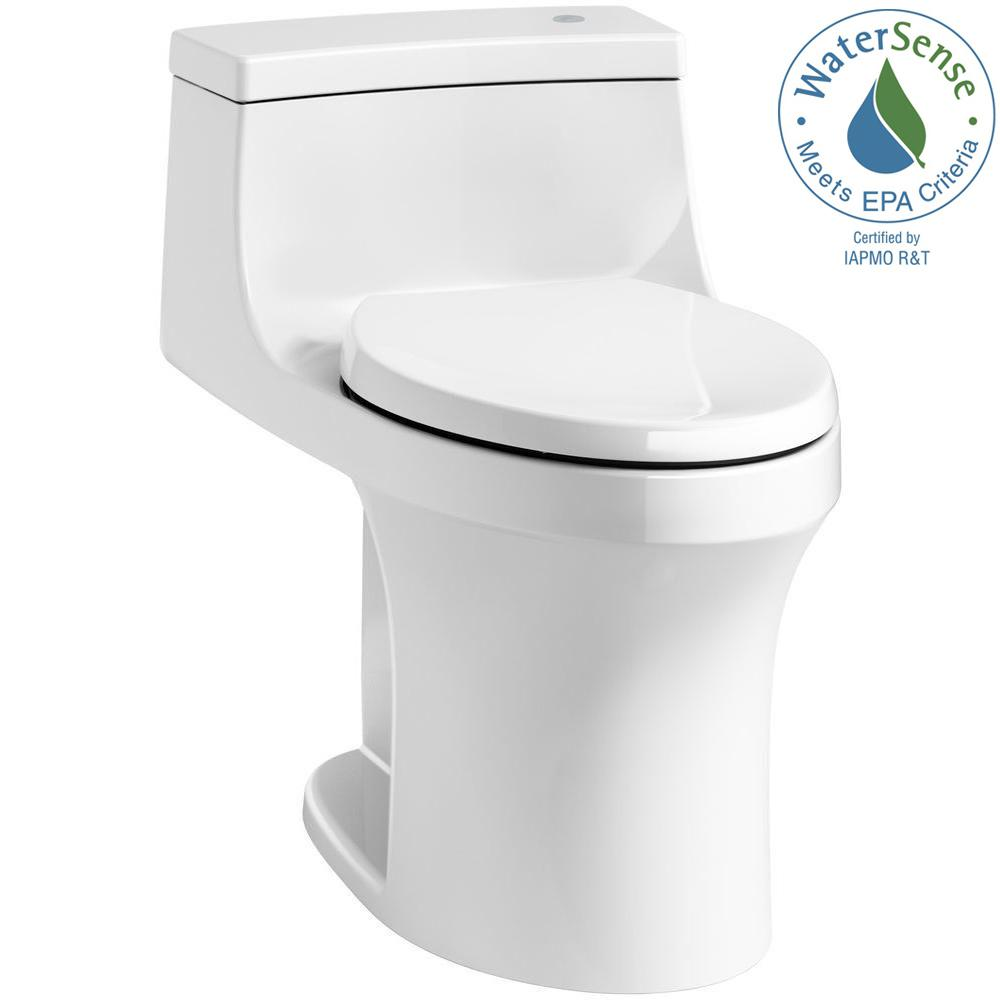 KOHLER San Souci Touchless Comfort Height 1-piece 1.28 GPF Single Flush  Elongated Toilet with