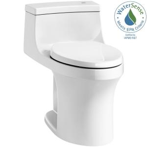 a12cd26bed7 San Souci Touchless Comfort Height 1-piece 1.28 GPF Single Flush Elongated  Toilet with AquaPiston