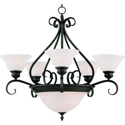 Pacific 7-Light Kentucky Bronze Chandelier