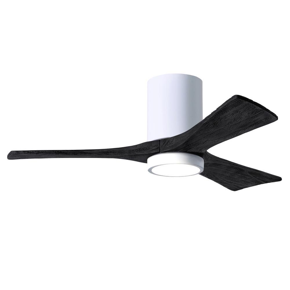 Irene-3HLK 42 in. Integrated LED Gloss White Ceiling Fan with Light Kit