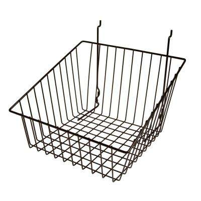 12 in. W x 12 in. D x 8 in. H Black Sloped Front Basket