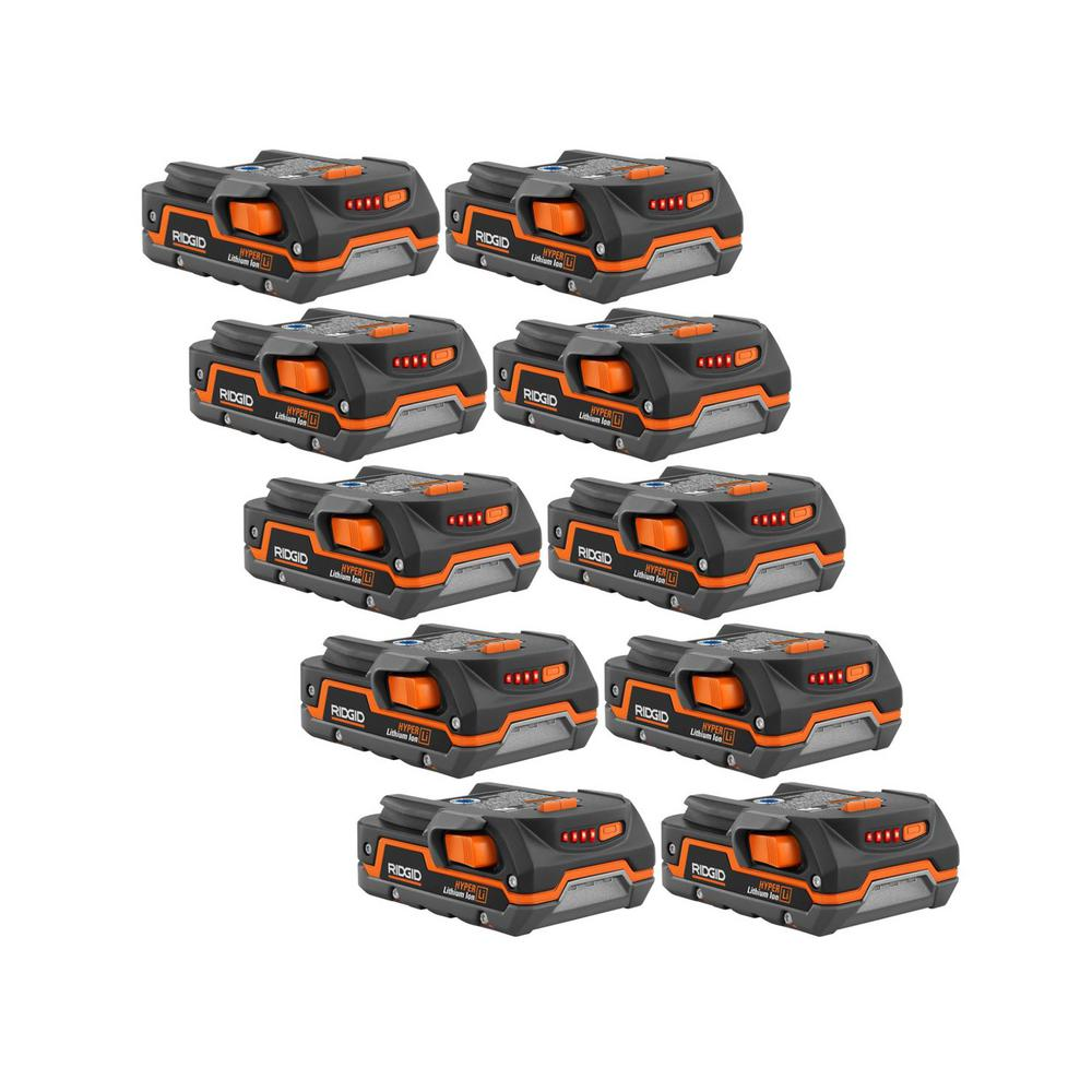 RIDGID 18-Volt 1.5 Ah Compact Lithium-Ion Battery (10-Pack) was $790.0 now $249.0 (68.0% off)