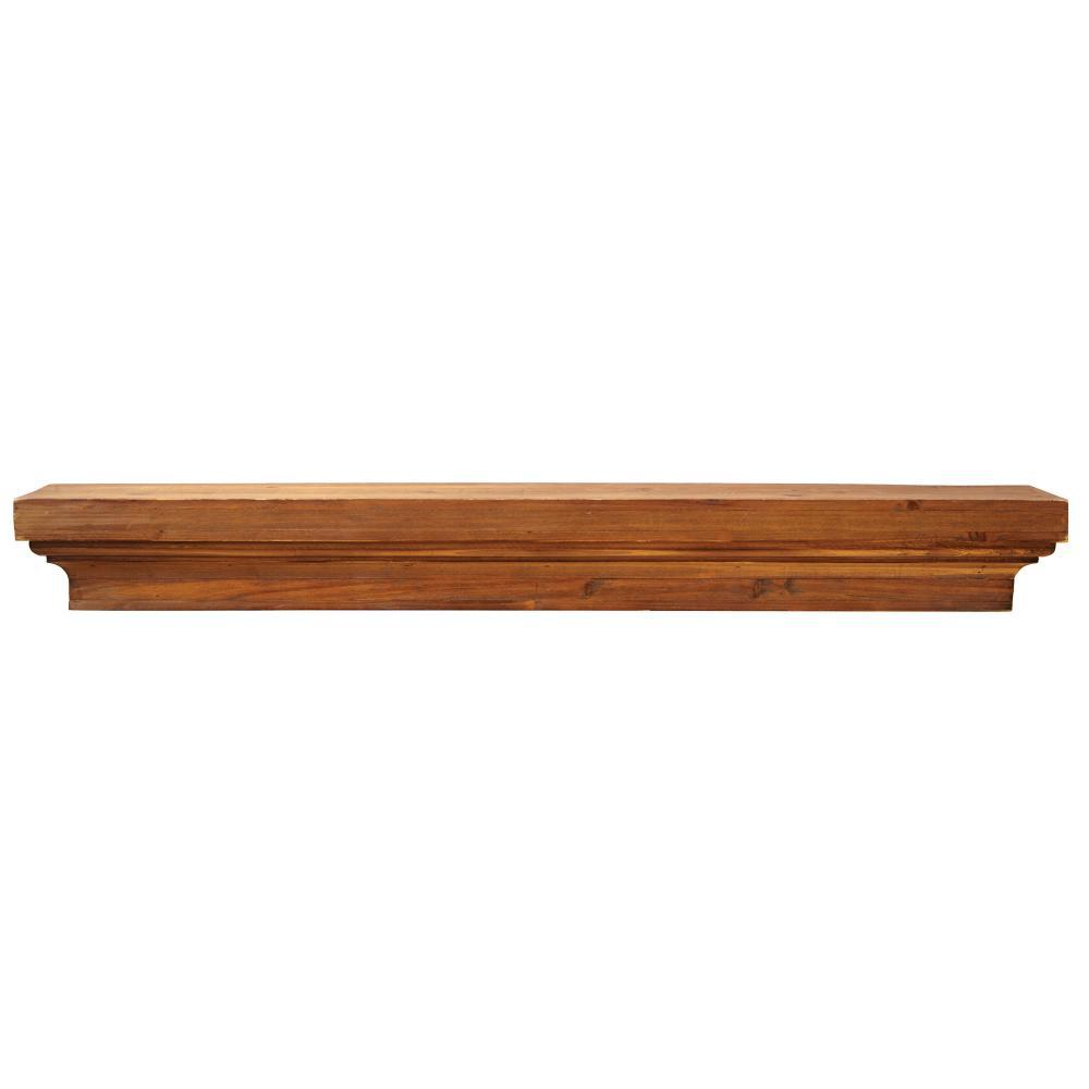 36 in. x 6 in. Floating Brown Wood Decorative Shelf