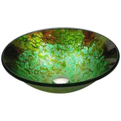 Chrona Series Vessel Sink in Emerald Burst