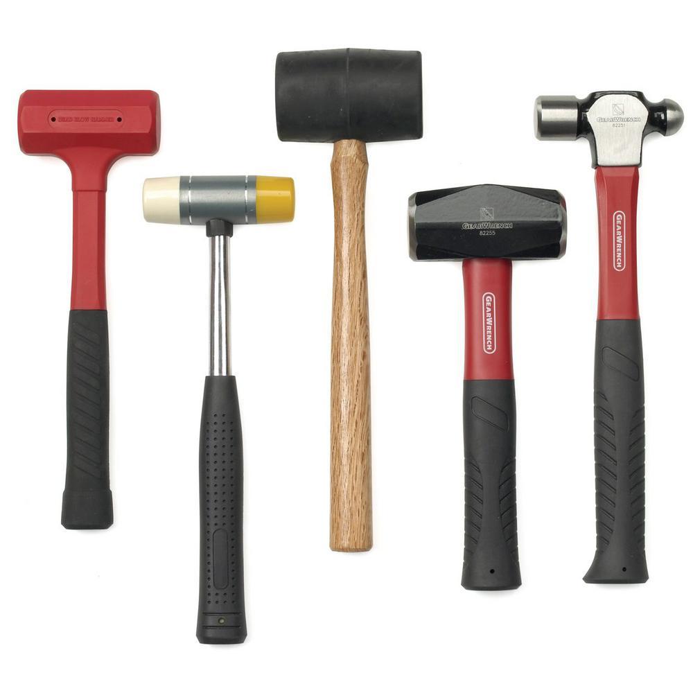GearWrench GearWrench Hammer and Mallet Set (5-Piece)
