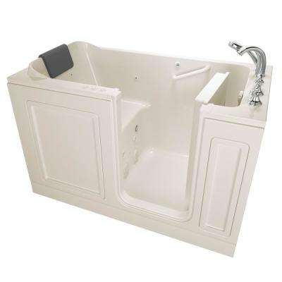 Acrylic Luxury 60 in. Right Hand Walk-In Whirlpool and Air Bathtub in Linen