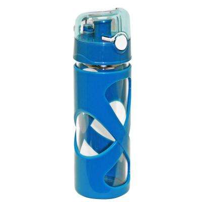 16 oz. Blue Borosilicate Glass Water Bottle (12-Pack)