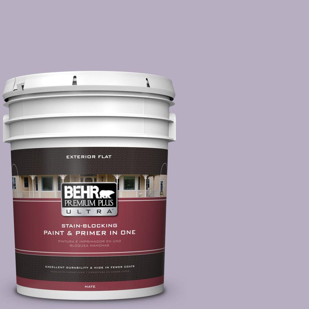 BEHR Premium Plus Ultra 5-gal. #BIC-07 Virtuous Violet Flat Exterior Paint