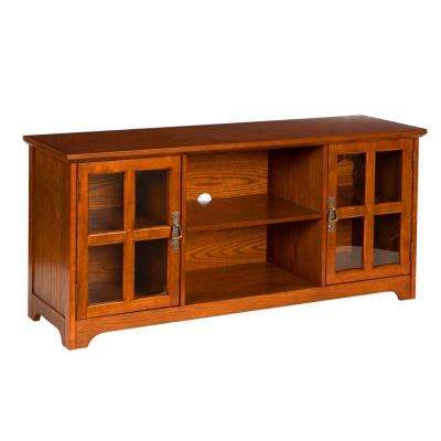 Parnell Mission Oak Storage Entertainment Center