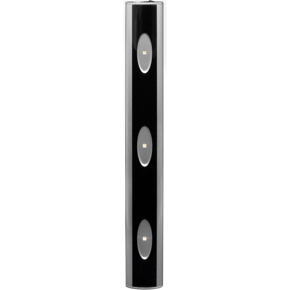 Attirant GE 18 In. Premium Linkable LED Black/Stainless Steel Undercabinet Light