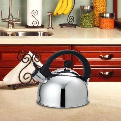 10.6-Cup Silver Stovetop Tea Kettle
