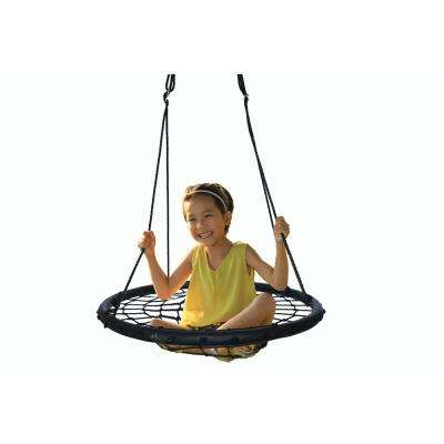 Round Net Tree Web Swing with Hanging Ropes