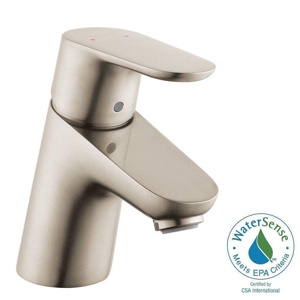 Hansgrohe Focus 70 Single Hole 1-Handle Low-Arc Bathroom Faucet in Brushed Nickel